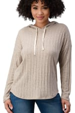 Hooded Sweater Top - 1