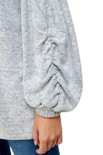 Cozy Knit Loose Fit Top - Grey - Detail