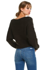 Lace Up Sleeves Sweater Top - 2