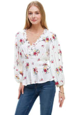 Floral Frill Detailed Long Sleeves Blouse - 3