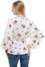 Floral Frill Detailed Long Sleeves Blouse - 2