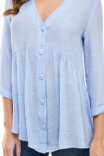 Gauze Button Front Tunic Top - 6