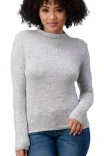 Cozy Knit Mock Neck Top - 3