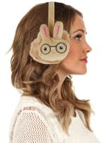 Animal Designed Earmuffs - Caramel - Back
