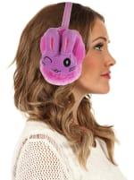 Animal Designed Earmuffs - Purple - Back