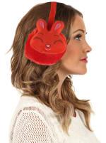 Animal Designed Earmuffs - Red - Back