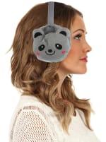 Animal Designed Earmuffs - Grey - Back