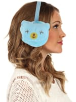 Animal Designed Earmuffs - Blue - Front