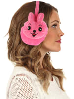 Animal Designed Earmuffs - Pink - Front