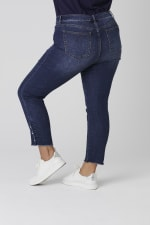 Signature 5 Pocket Skinny Ankle Jean With Snap Button At Ankle - Plus - 2