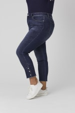 Signature 5 Pocket Skinny Ankle Jean With Snap Button At Ankle - Plus - 6