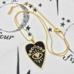 Gold Plated - Full Heart Necklace - 3