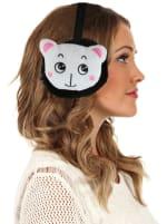 Animal Designed Earmuffs - Black - Front