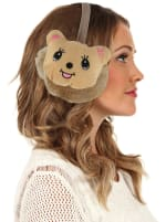 Animal Designed Earmuffs - Brown - Front