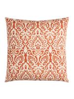 Damask Orange & Natural Throw Pillow - 1