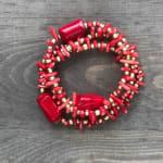 Coral Trio Bracelet Set - 1