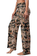 Paisley Draw String Waisted Pants - 3