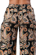 Paisley Draw String Waisted Pants - 2