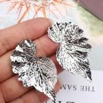 Mirrored Leaf Earrings - 5
