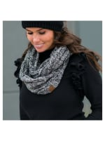 C.C® Two-Tone Multi Color Scarf - Grey Black - Front