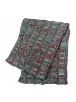 CC® Four-Tone Multi Color Scarf - Turquoise / Red - Back