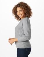 Roz & Ali Novelty Sleeve Stitch Interest Pullover Sweater - 3