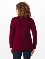 Westport Lurex Sharkbite Pullover Sweater - 8