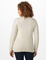 Westport Lurex Sharkbite Pullover Sweater - Very Vanilla - Back