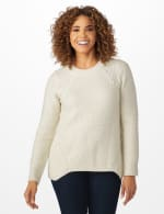 Lurex Sharkbite Pullover Sweater - 6