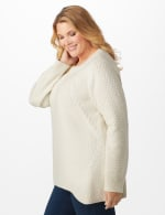 Lurex Sharkbite Pullover Sweater - Plus - 9