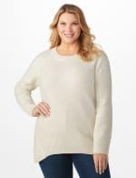 Lurex Sharkbite Pullover Sweater - Plus - 11