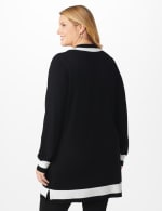 Roz & Ali Colorblock Duster - Plus - Black/Vanilla Ice - Back
