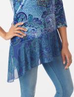 Velvet Asymmetrical Hem Knit Top - 3