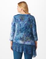 Velvet Asymmetrical Hem Knit Top - Plus - 2