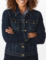 Westport Stretch Denim Button Front Jean Jacket - 5