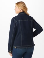 Westport Stretch Denim Jean Jacket - Plus - Dark Denim - Back