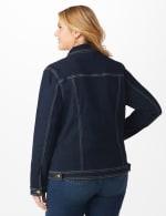 Plus Westport Stretch Denim Jean Jacket - Plus - Dark Denim - Back