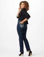 Westport Signature 5 pocket Bootcut Jean with Fleur-de-lis Pattern Bling Back Pocket - Misses - Rinse - Back