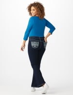Westport 5 Pocket Signature Bootcut Jean with Chevron Pattern Bling Back Pocket - Dark Wash - Front