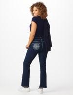Westport 5 Pocket Signature Bootcut Jean with Starburst Pattern Bling Back Pockets - Misses - Dark Wash - Front