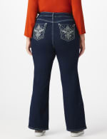 Plus Westport Signature 5 Pocket Bootcut Jean with Fleur-de- lis Bling Back Pocket  - Plus - Rinse - Back