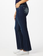 Westport Signature 5 Pocket Bootcut Jean with Starburst Pattern Bling Back Pockets - 4