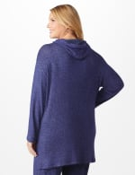 DB Sunday Sweater Knit Hacci Hoodie - Plus - Navy - Back