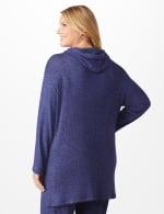 DB Sunday Knit Hoodie - Plus - Navy - Back