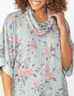 Cowl Neck Floral Knit Top - 4