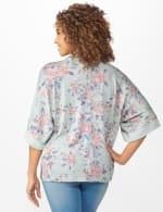 Cowl Neck Floral Knit Top - 2
