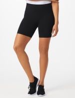 Tummy Control Bike Short - Black - Front