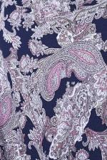 Westport Paisley Tie Front Knit Top - 3