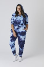 Tie Dye French Terry Lace Up Hoodie - Plus - 6