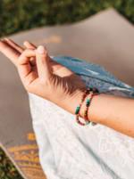 Master Healer 4mm Necklace - Multi Color - Back
